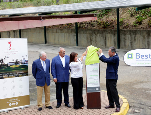Bester inaugurates the photovoltaic roof for self-consumption installed in the Club Zaudín Golf