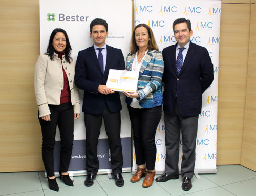 Bester receives the certificate bonus by MC MUTUAL